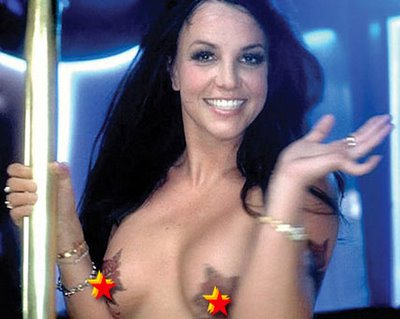 britney spears topless tattoo