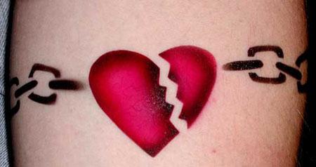 broken heart designs for tattoos girl tattoos design. Black Bedroom Furniture Sets. Home Design Ideas