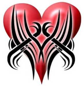 broken-heart-tribal-tattoos