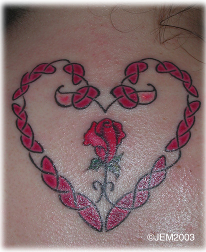 This symbol of love and loyalty is used frequently in Celtic tattoos and is