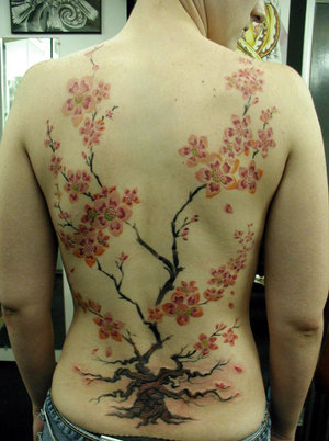 Amazing Tattoos Cherry Blossom Tattoos Designs For Lower