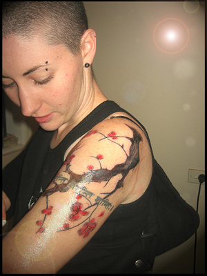 Cherry Tree Blossom Tattoo – a showcase of visual content for inspiration or