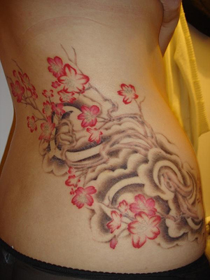 cherry blossom tree tattoo. japanese cherry tree tattoo.