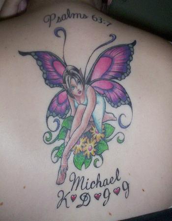 fairy butterfly flower tattoos
