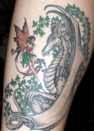 fairy dragon tattoos