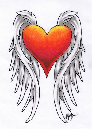 winged heart tattoos. Tattoo t-shirts, cool tribal tattoo t-shirts & tees,