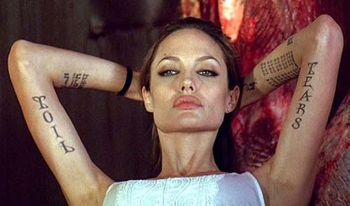 angelina jolie tattoos wanted movie. Angelina Jolie Tattoos Wanted