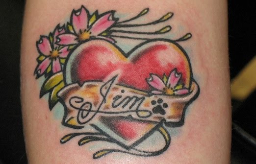 abstract love heart tattoos
