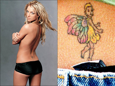 [Sep 27, 2009] One of the most popular tattoo designs amongst Britney fans is Britney's signature fairy. Flip through this gallery of Britney Fairy tattoos