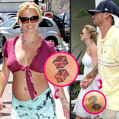 britney spears tattoos