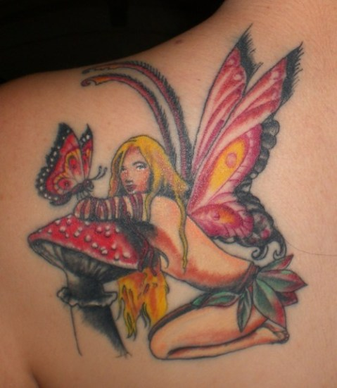 butterfly and fairy tattoos