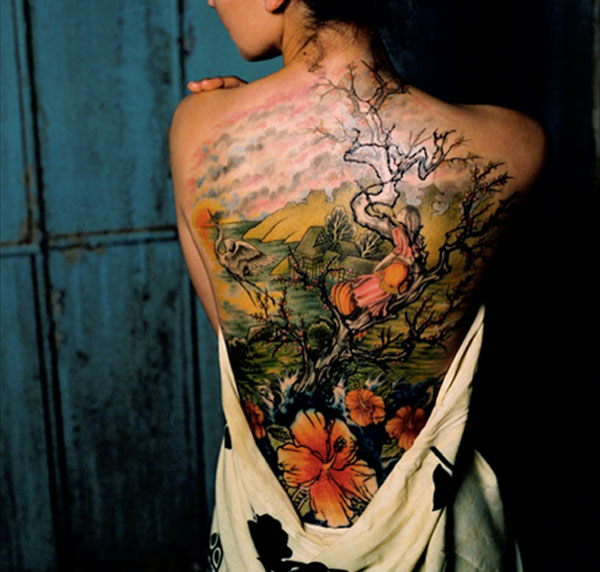 japanese cherry blossom tree tattoos. Cherry Blossom Tattoos | Paul Hartrick