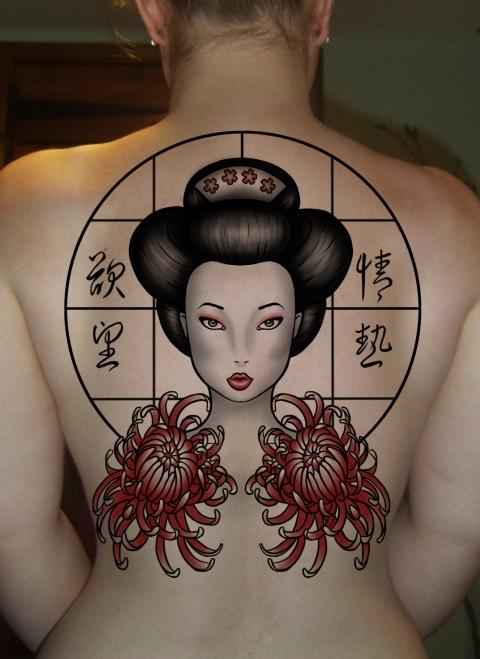 japanese girl tattoos