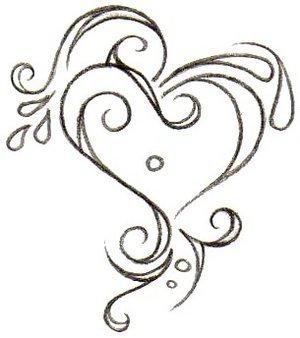 black and white heart tattoos