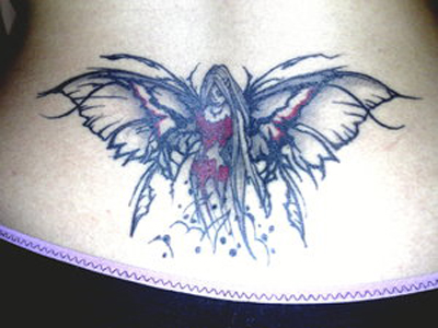 fairy tattoos on side of stomach