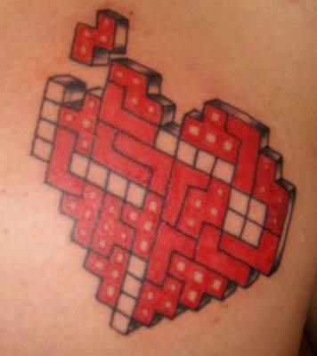 fake heart tattoos