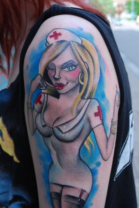 girl nurse tattoos