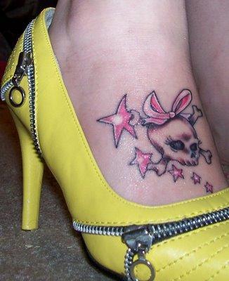 girl type skull tattoos