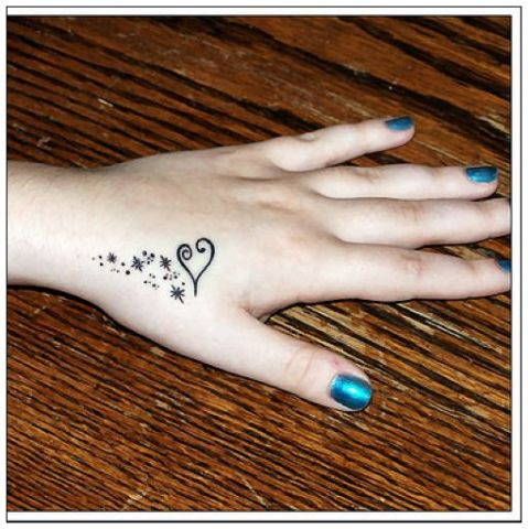 heart hand tattoos