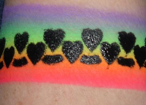 heart rainbow tattoos