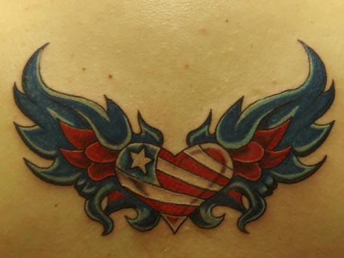heart with wings tattoos | Girl tattoos design