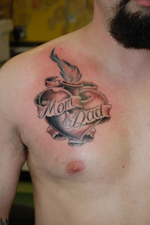 mom heart tattoos