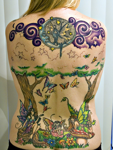 moon star fairy tattoos