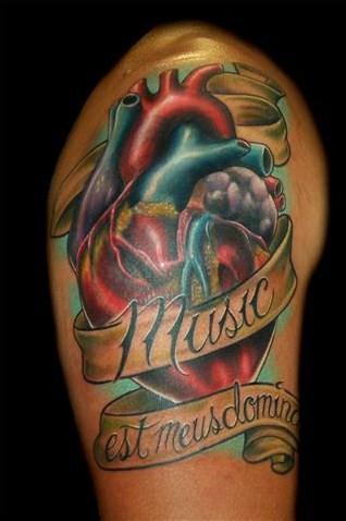 new school heart tattoos