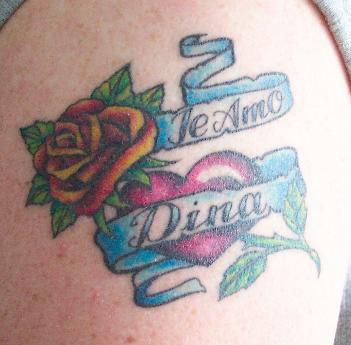 rose heart tattoos girl tattoos design. Black Bedroom Furniture Sets. Home Design Ideas