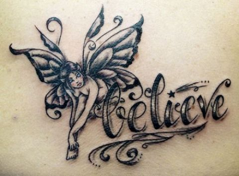 sitting fairy tattoos reaching