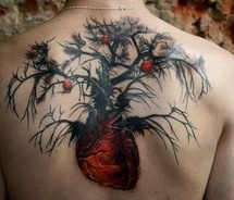 tree heart tattoos