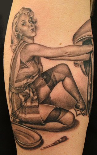world war 2 pinup girl tattoos